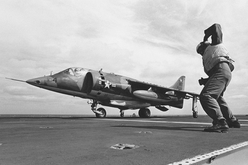 AV-8A on the deck