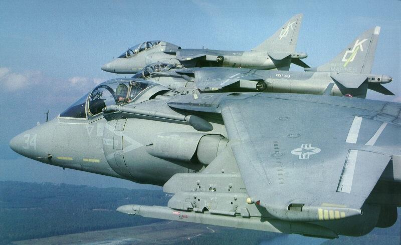 USMC AV-8B Harrier IIs