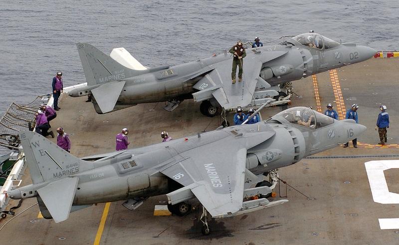 USMC AV-8B+ Harrier IIs