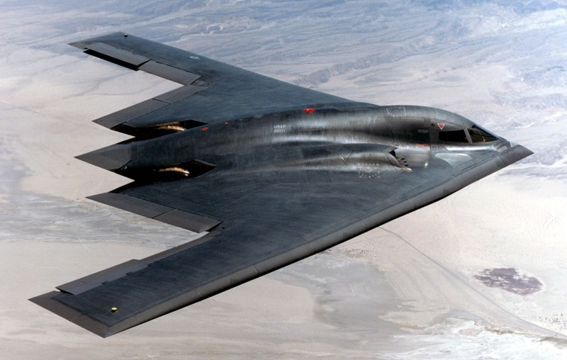 B-2 with F-117 stealth fighters