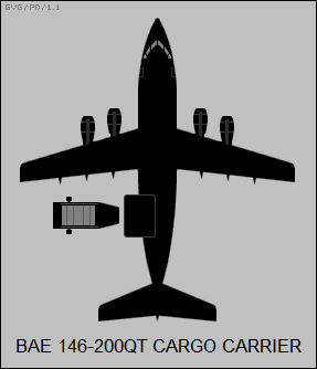 BAE 146-200QT cargo carrier