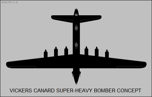 Vickers canard super-heavy bomber concept
