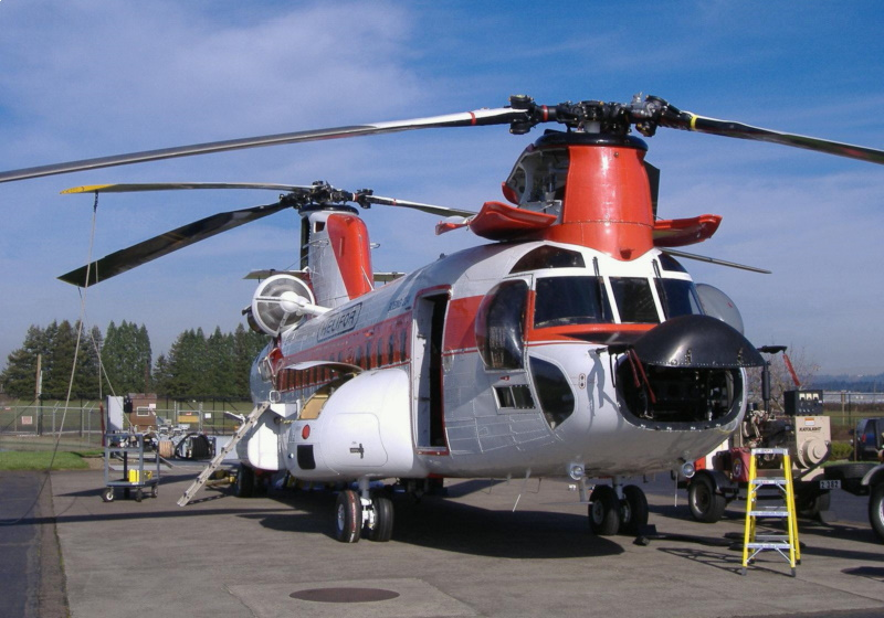 Dutch CH-47D with weather radar nose