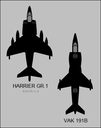 Harrier versus VAK 191B