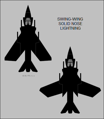 swing-wing solid nose EE Lightning