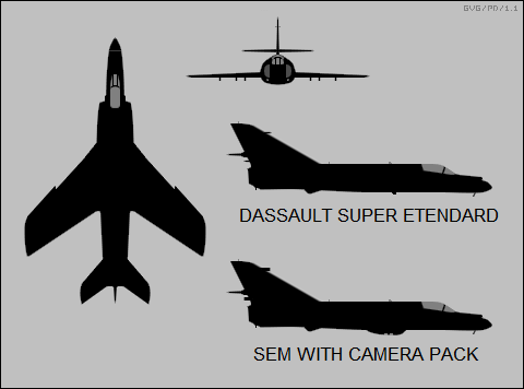 Dassault Super Etendard, SEM with camera pack