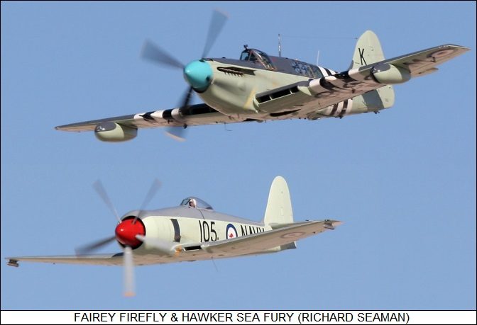 Fairey Firefly with Hawker Sea Fury