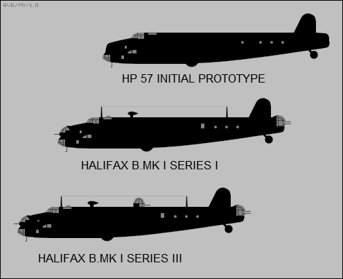 early Halifax bomber variants