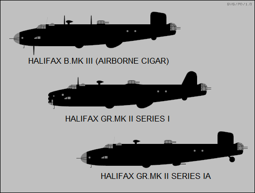 Halifax Bomber Support & Coastal Command variants