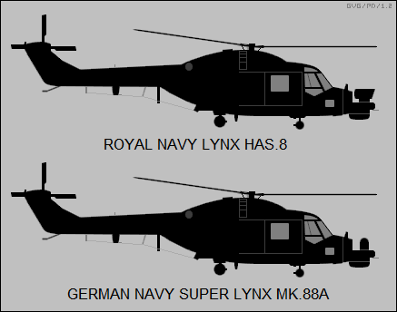 RN Lynx HAS.8, German Navy Super Lynx Mk.88A