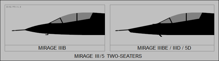Mirage III/5 two-seaters