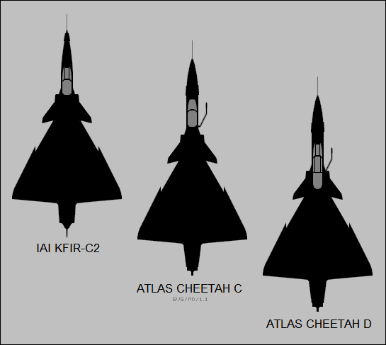 IAI Kfir-C2, Atlas Cheetah C, Atlas Cheetah D