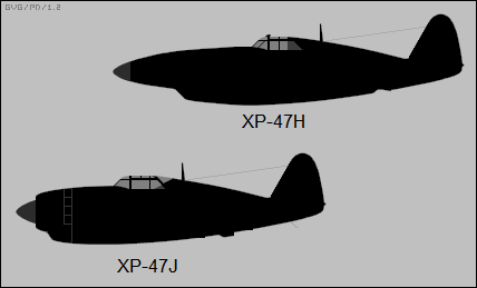 Republic XP-47H, XP-47J
