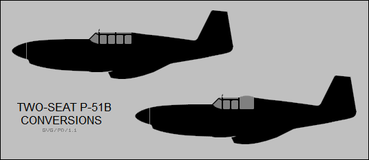 two-seat P-51B conversions