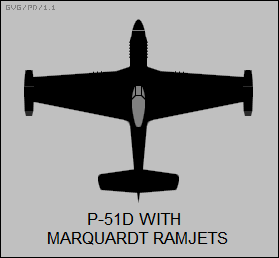 P-51D with Marquardt ramjets