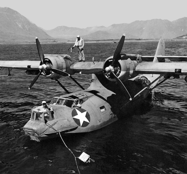 PBY Catalina at anchor in the Aleutians