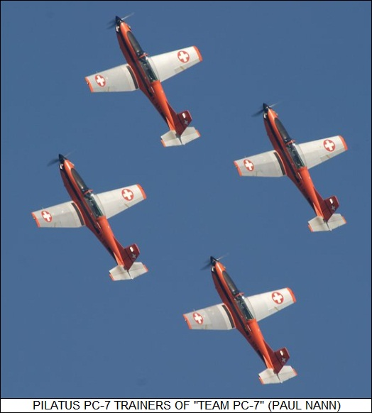 Pilatus PC-7s of Team PC-7