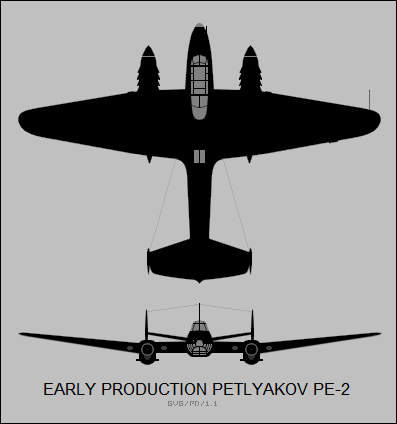 early production Petlyakov Pe-2