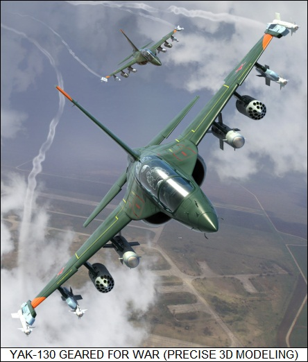 Yakovlev Yak-130 geared for war