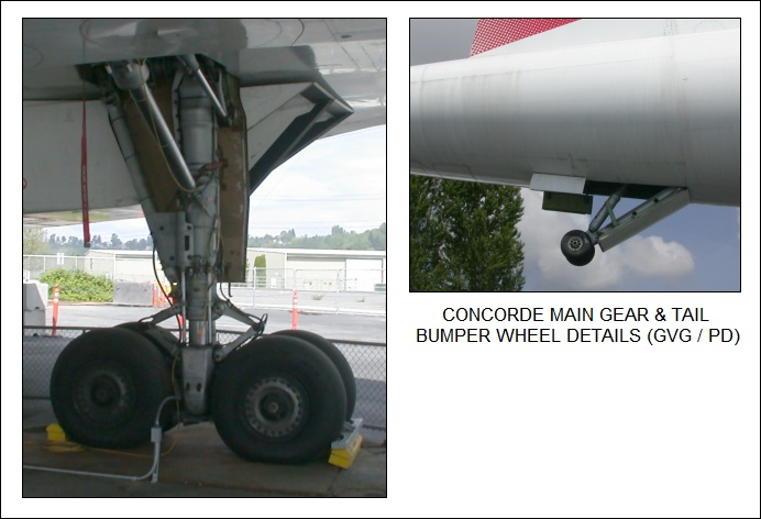 Concorde SST main gear & tail bumper wheel details