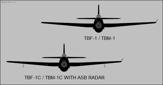 TBF-1/TBM-1, TBF-1C/TBM-1C with ASB radar