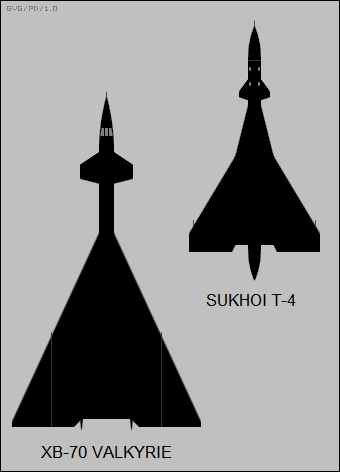 North American XB-70 Valkyrie VS Sukhoi T-4