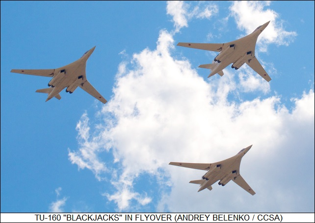 Tu-160 Blackjacks in flypast