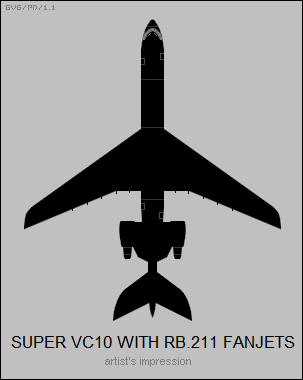 Super VC10 with RB.11 fanjets