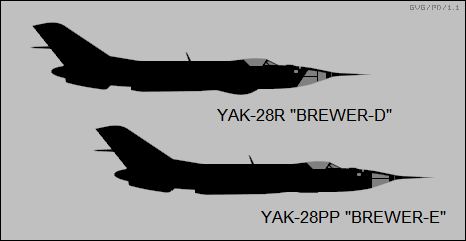 Yak-28R Brewer-D, Yak-28PP Brewer-E