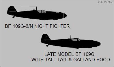 Bf 109G-6/N night fighter, late model Bf 109G