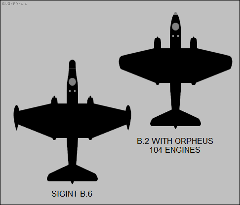 SIGINT Canberra B.6, B.2 with Orpheus engines