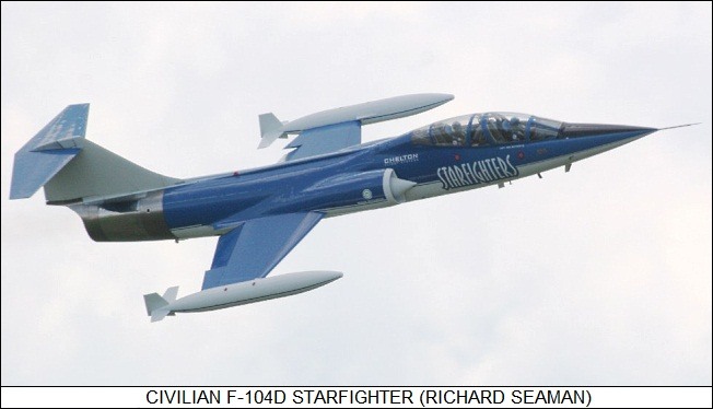 civilian F-104D Starfighter