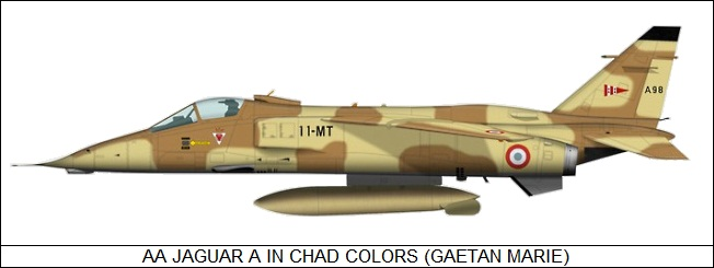 AA Jaguar in Chad colors
