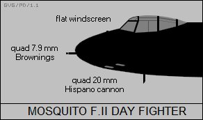 DH Mosquito F.II day fighter