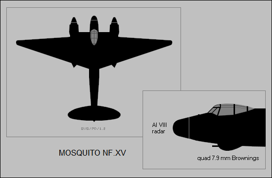 DH Mosquito NF.XV