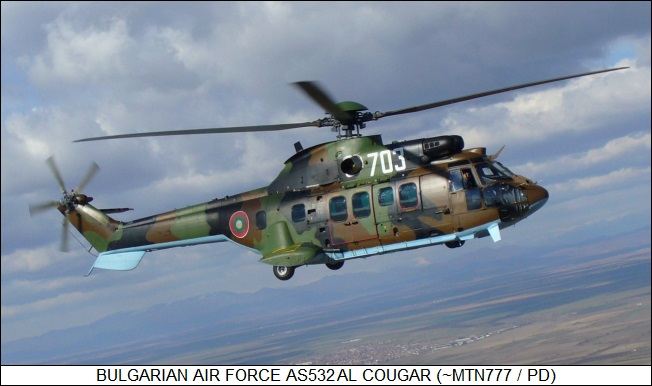 Bulgarian Air Force AS 532AL Cougar