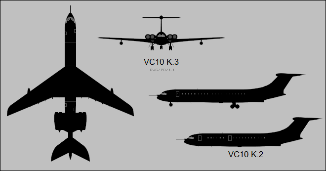 Vickers VC10 tanker variants