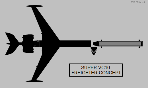 Vickers Super VC10 freighter concept